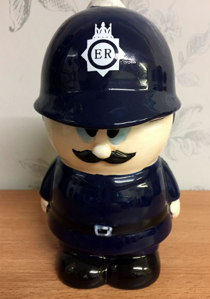 GB Police Officer Ceramic Money Box ~ Policeman